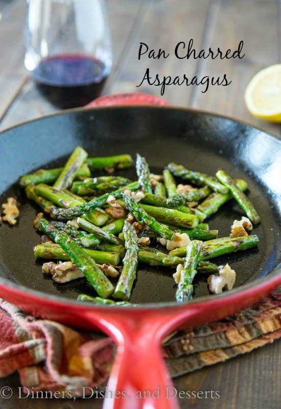 side dish: pan charred asparagus