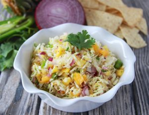 side dish: papay pineapple coleslaw