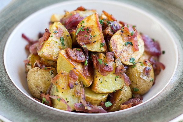 side dish: warm potato salad