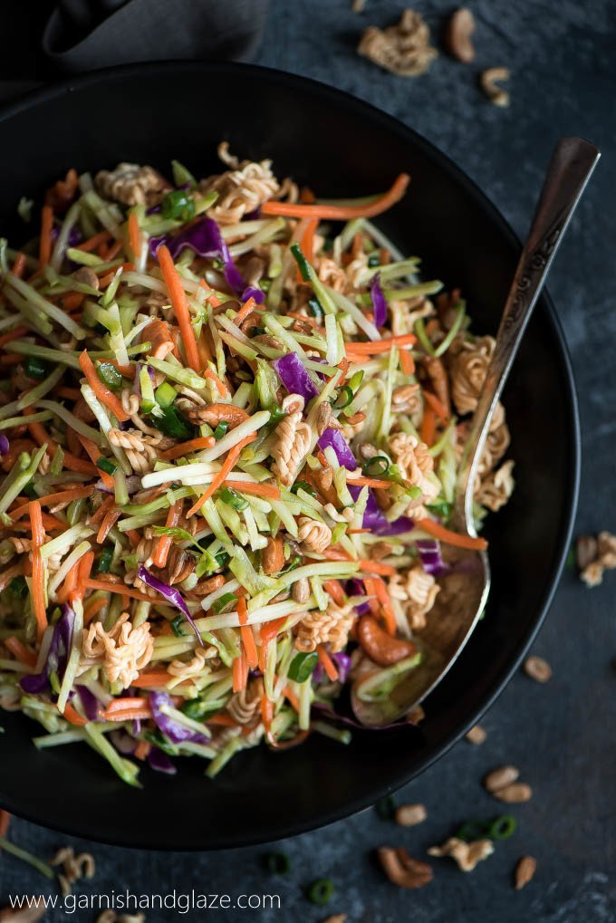Side dish: crunchy asian broccoli slaw